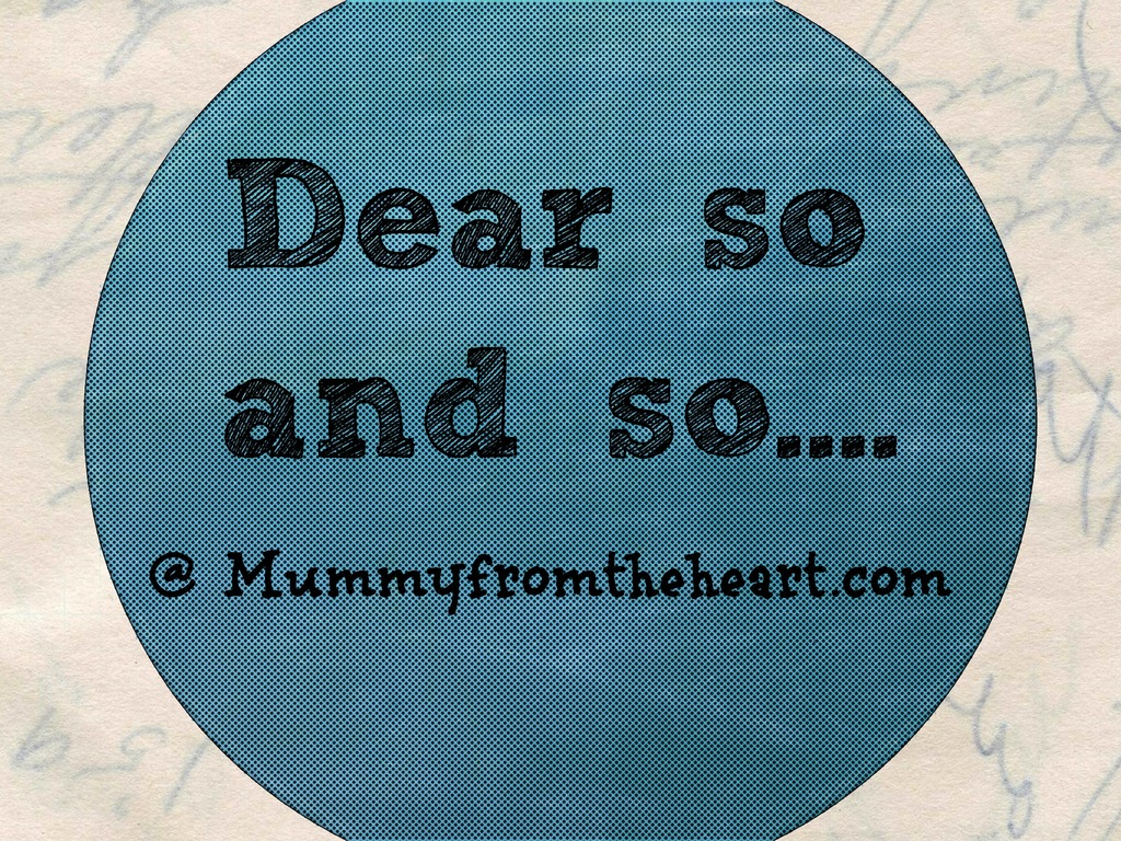 Dear So and So: Blogging