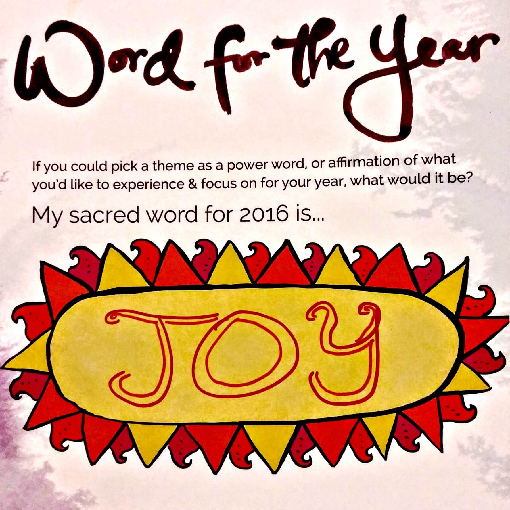 Joy Word of the Year 2016